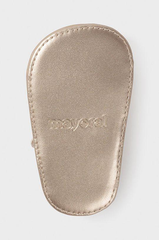 zlatá Mayoral Newborn - Detské sandále