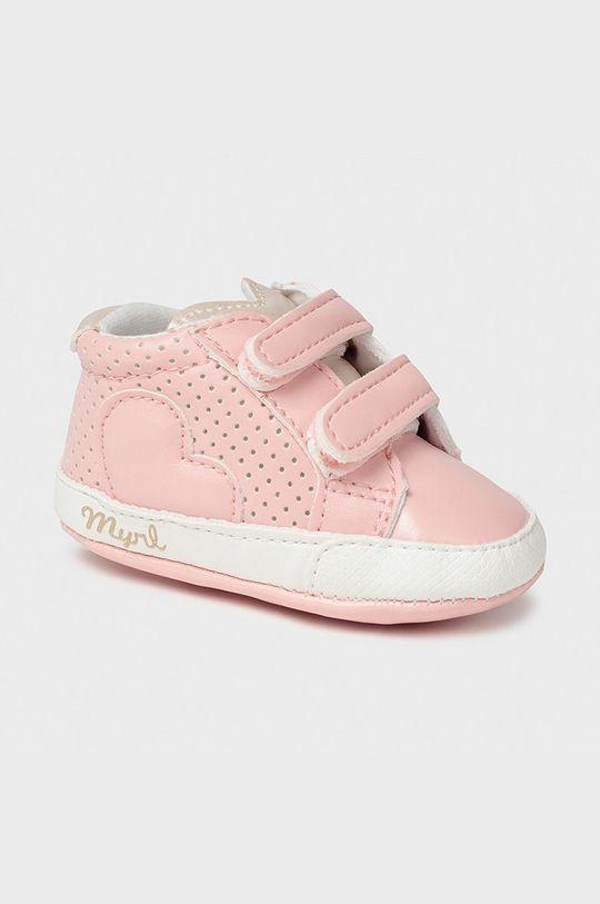 pastelová ružová Mayoral Newborn - Detské topánky Dievčenský