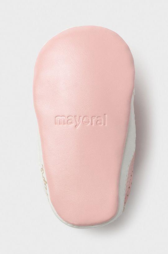 pastelová ružová Mayoral Newborn - Detské topánky