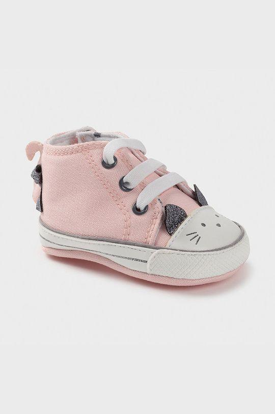pastelowy różowy Mayoral Newborn - Trampki dziecięce Dziewczęcy