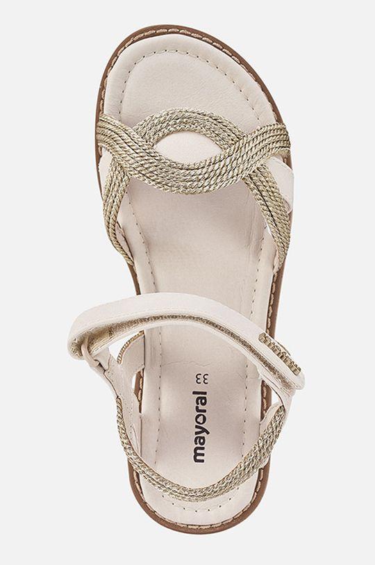 Mayoral - Detské sandále  Zvršok: 55% Polyester, 45% Polyuretán Podrážka: 100% Termoplastická guma Vložka: 100% Prírodná koža
