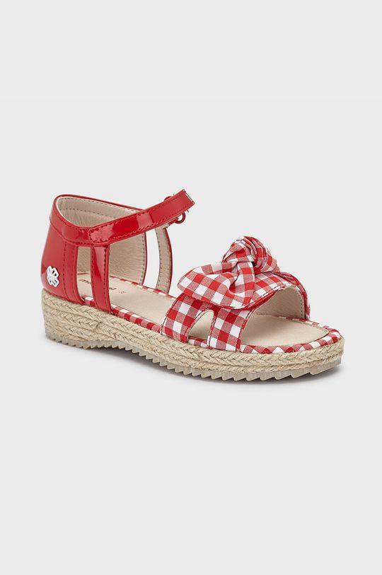 červená Mayoral - Dětské sandály Dívčí