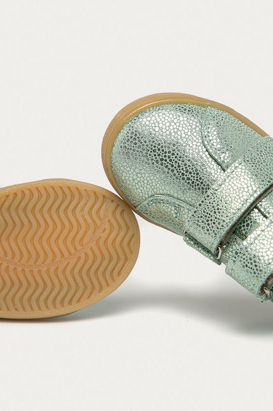 blady zielony Mrugała - Półbuty skórzane dziecięce