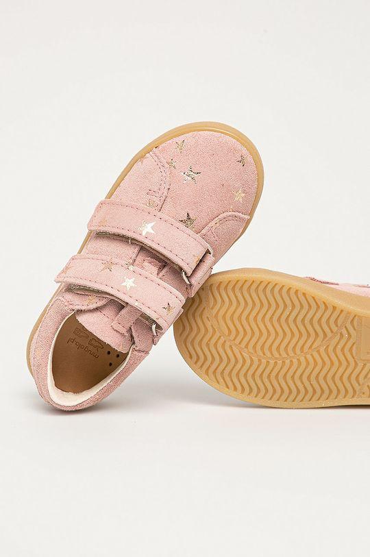 różowy Mrugała - Półbuty skórzane dziecięce