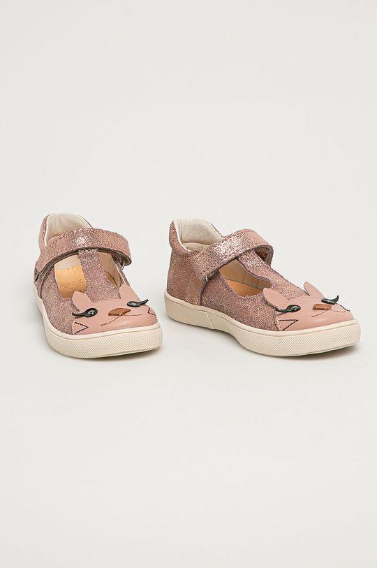 Mrugała - Balerini din piele pentru copii roz pastelat