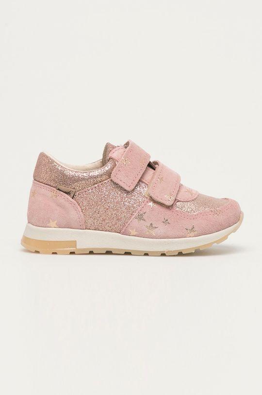 pastelově růžová Mrugała - Dětské boty Dívčí