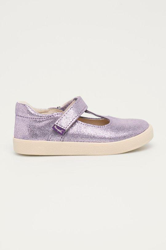 levandulová Mrugała - Dětské kožené sandály Dívčí
