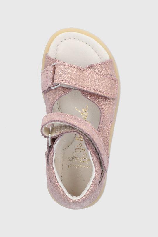 růžová Mrugała - Dětské kožené sandály