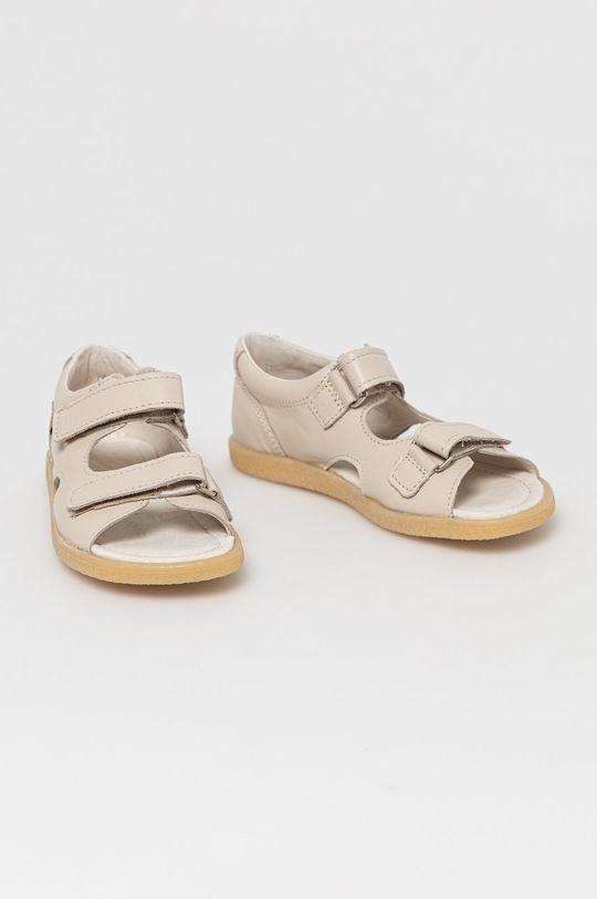 Mrugała - Sandały skórzane dziecięce cielisty