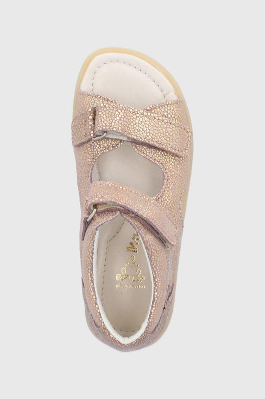 zlatá Mrugała - Dětské kožené sandály