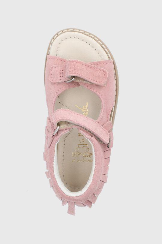 pastelowy różowy Mrugała - Sandały zamszowe dziecięce
