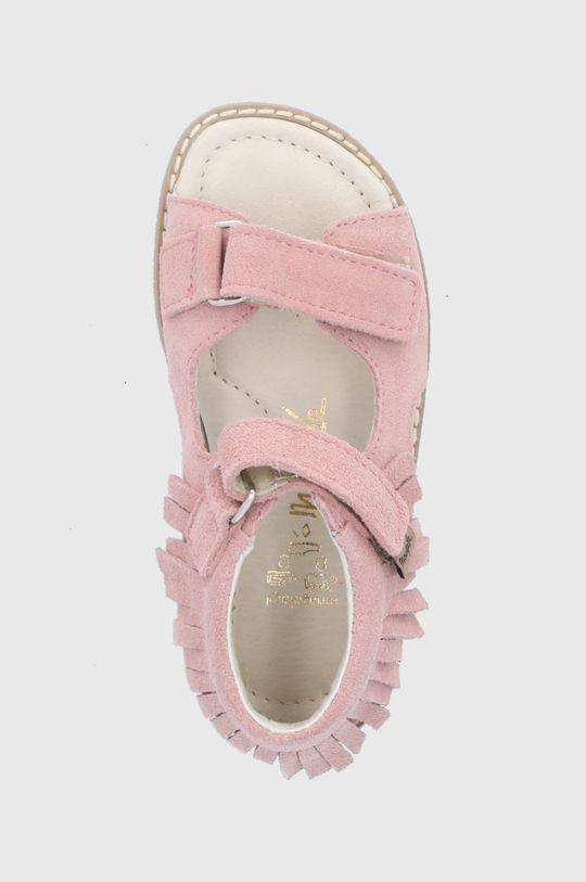 roz pastelat Mrugała - Sandale din piele intoarsa pentru copii