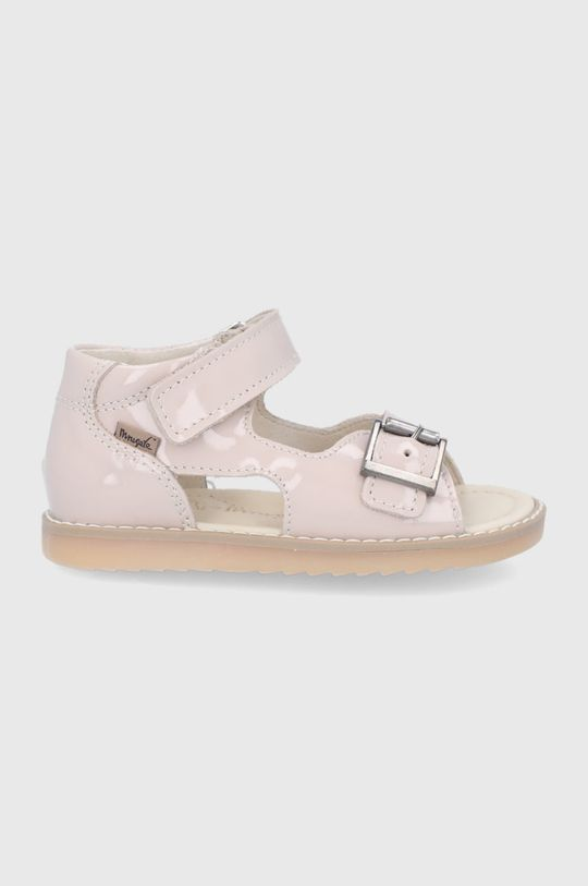kremowy Mrugała - Sandały skórzane dziecięce Dziewczęcy