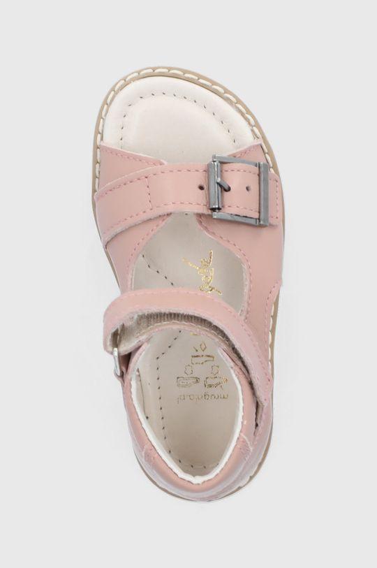 pastelowy różowy Mrugała - Sandały skórzane dziecięce