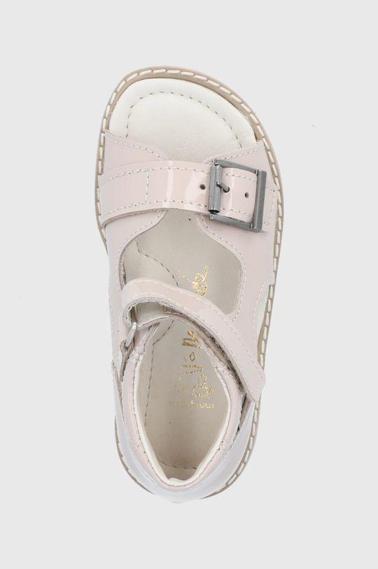 kremowy Mrugała - Sandały skórzane dziecięce