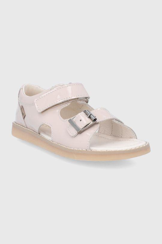 Mrugała - Sandały skórzane dziecięce kremowy