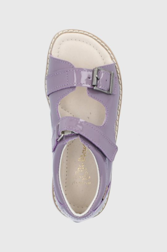lawendowy Mrugała - Sandały skórzane dziecięce