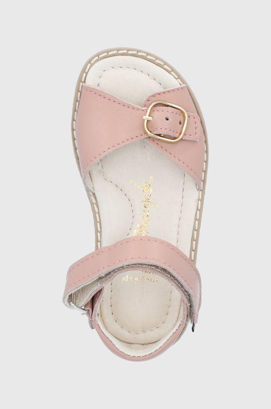 roz pastelat Mrugała - Sandale din piele pentru copii