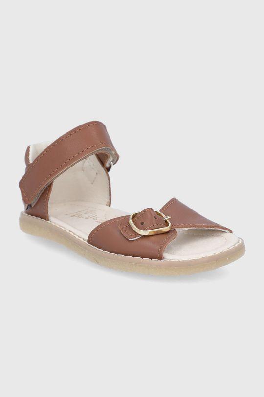 Mrugała - Sandale din piele pentru copii maro