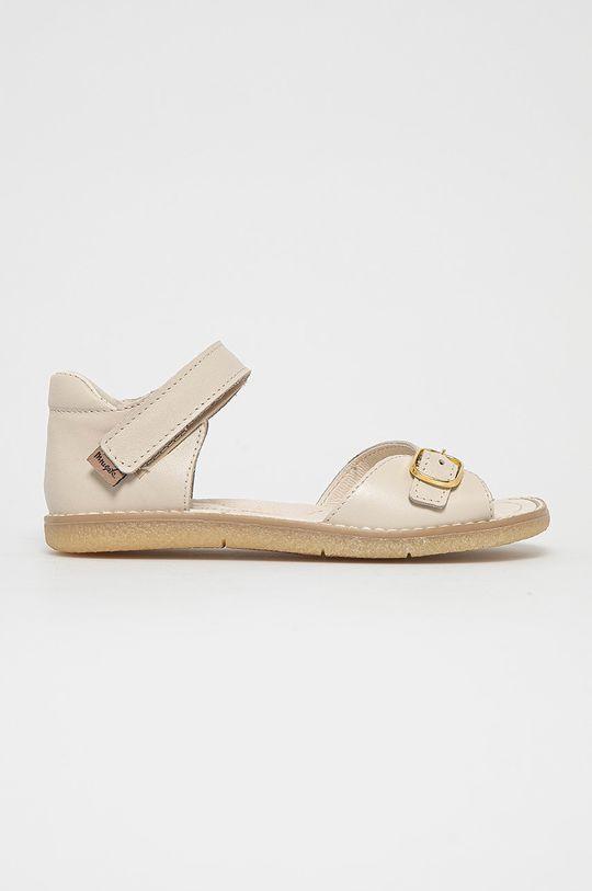 crem Mrugała - Sandale din piele pentru copii De fete