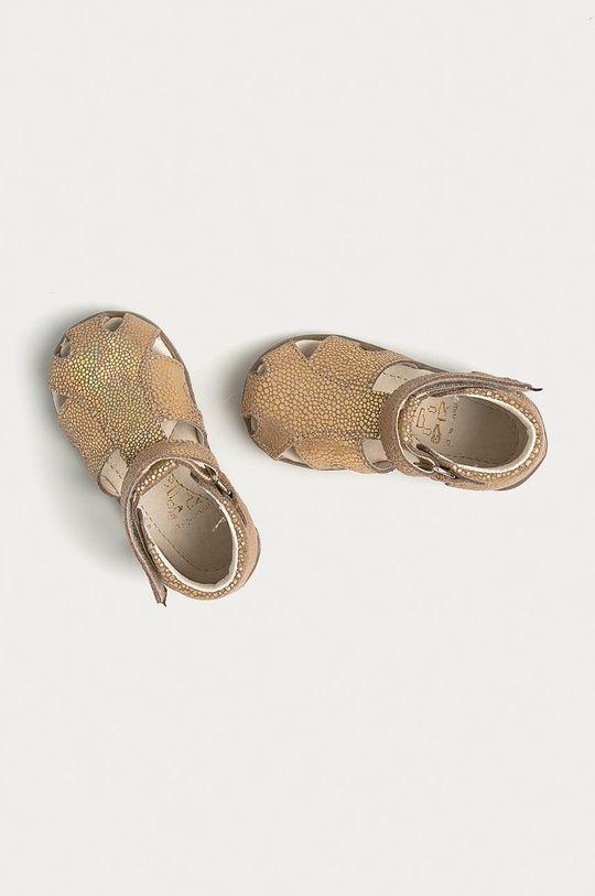 zlatá Mrugała - Dětské semišové sandály