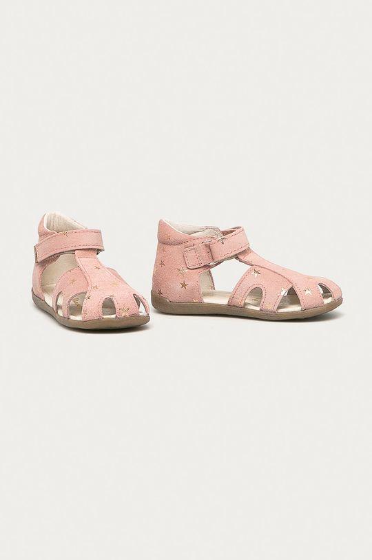 Mrugała - Detské semišové sandále ružová