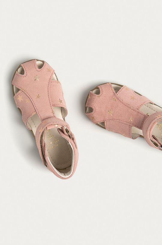 ružová Mrugała - Detské semišové sandále