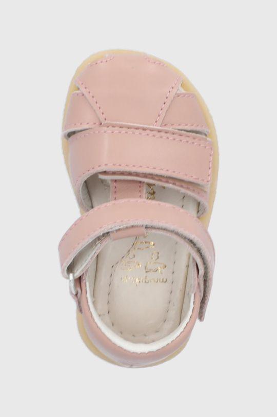 pasztell rózsaszín Mrugała - Gyerekszandál bőrből