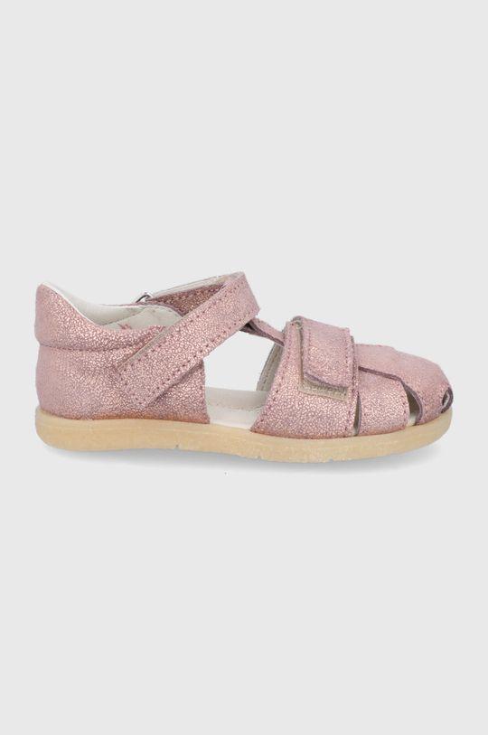 rózsaszín Mrugała - Gyerekszandál bőrből Lány