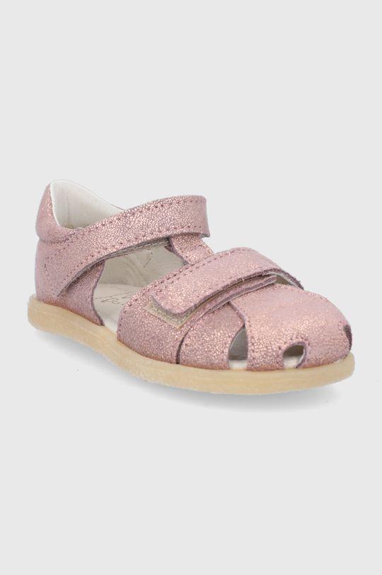 Mrugała - Gyerekszandál bőrből rózsaszín