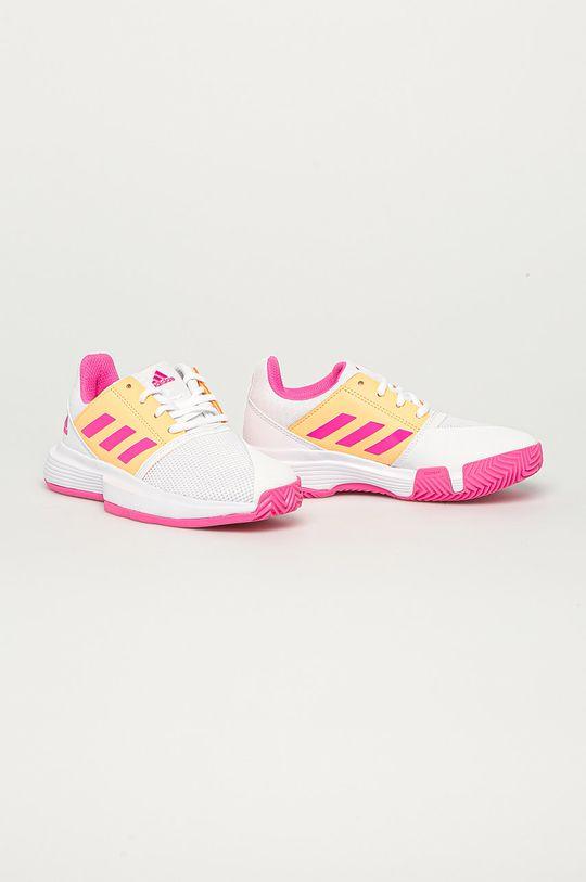 adidas Performance - Pantofi copii CourtJam xJ alb
