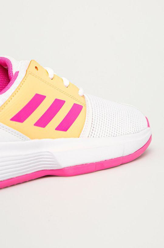alb adidas Performance - Pantofi copii CourtJam xJ