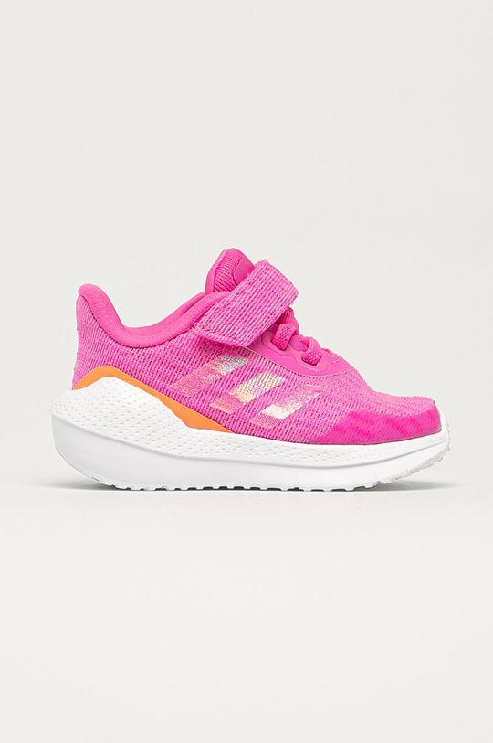 fuksia adidas Performance - Detské topánky Run EL Dievčenský
