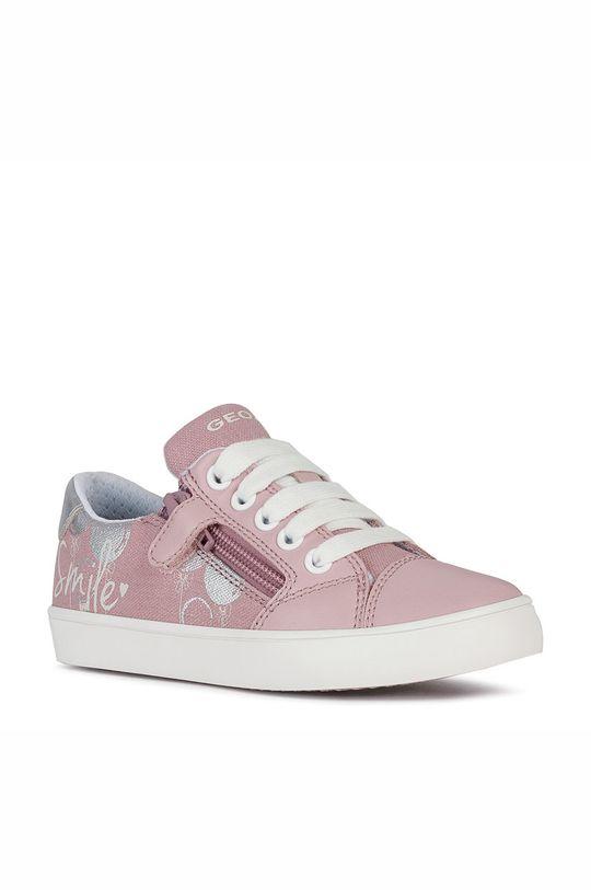 Geox - Dětské boty pastelově růžová