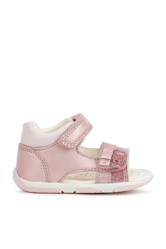 pastelová ružová Geox - Detské sandále Dievčenský