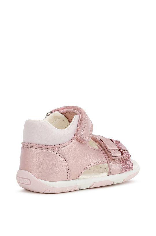 pastelová ružová Geox - Detské sandále