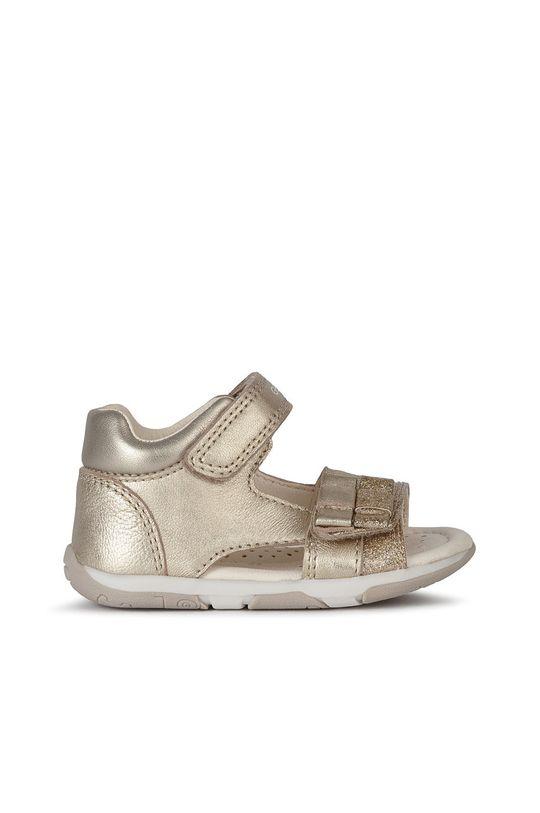 złoty Geox - Sandały dziecięce Dziewczęcy