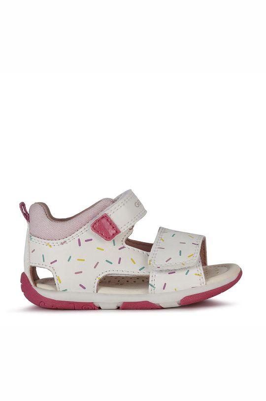 biały Geox - Sandały skórzane dziecięce Dziewczęcy