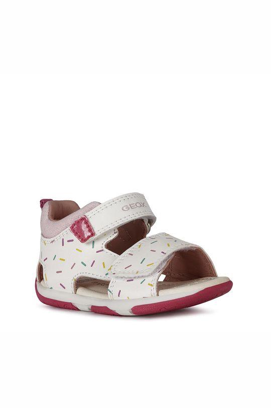 Geox - Sandały skórzane dziecięce biały