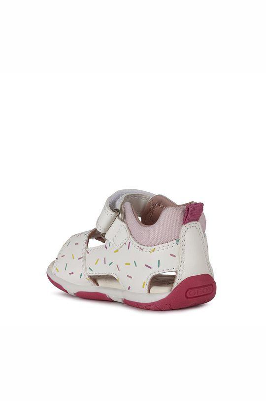 biały Geox - Sandały skórzane dziecięce