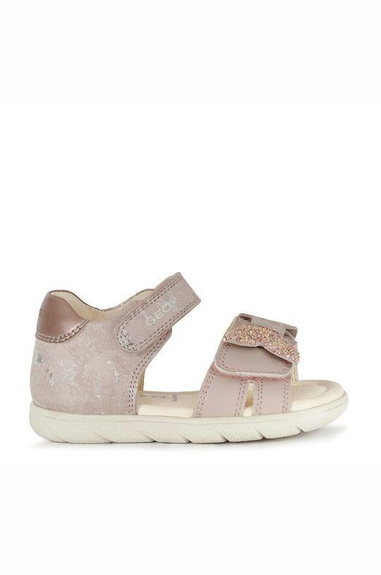 pastelově růžová Geox - Dětské sandály Dívčí