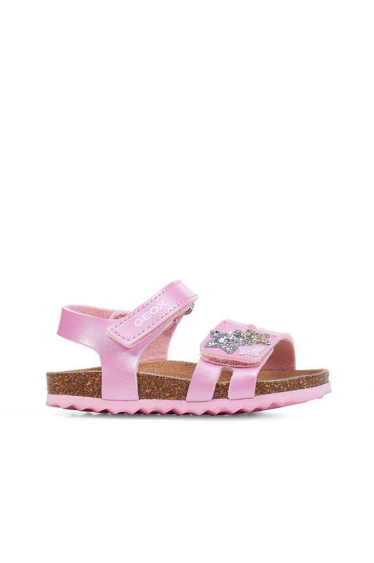 růžová Geox - Dětské sandály Dívčí