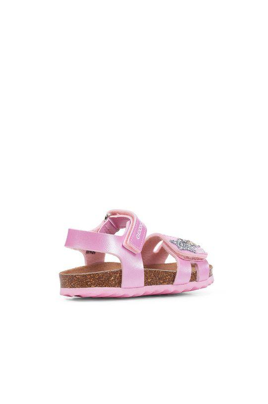 růžová Geox - Dětské sandály