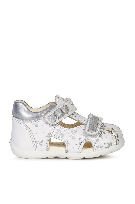 biały Geox - Sandały dziecięce Dziewczęcy