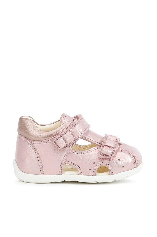 pastelowy różowy Geox - Sandały dziecięce Dziewczęcy