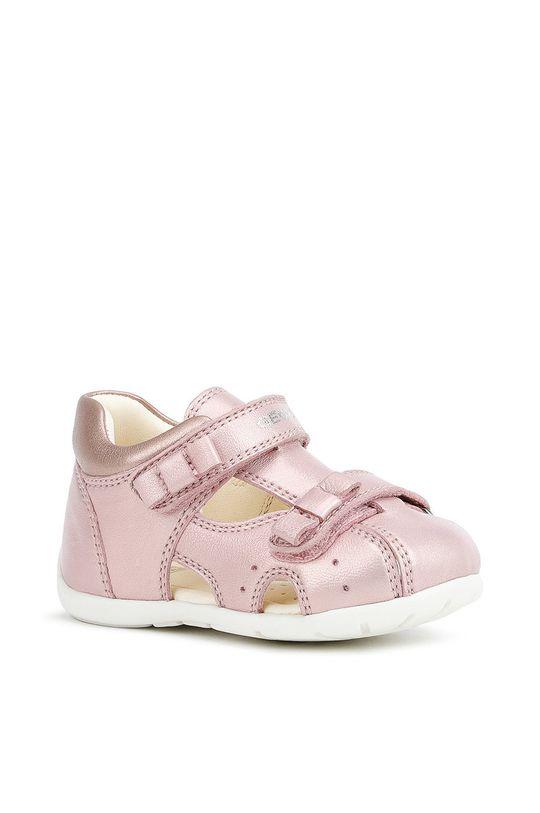 Geox - Sandały dziecięce pastelowy różowy