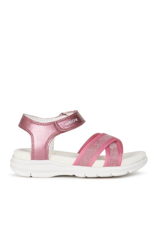 fuchsiová Geox - Dětské sandály Dívčí