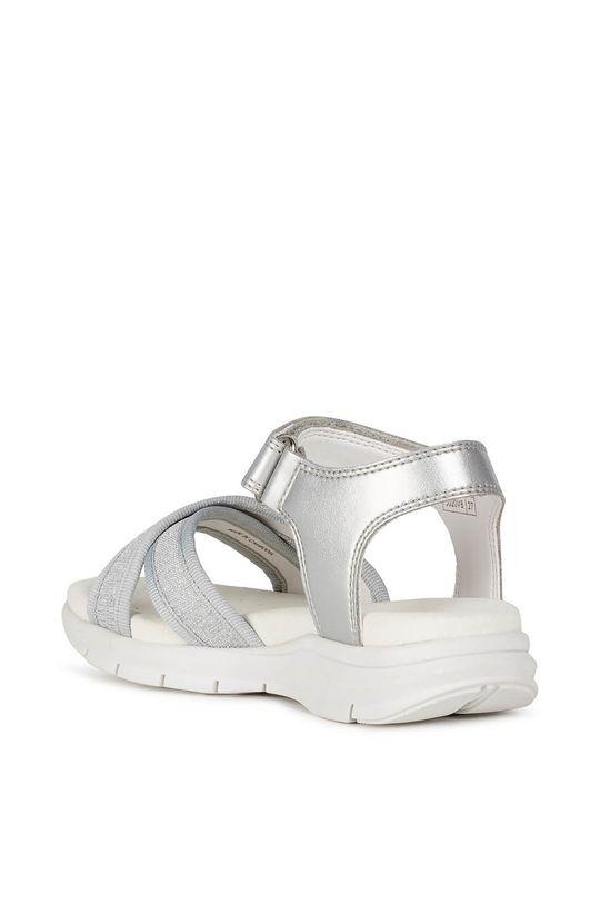 strieborná Geox - Detské sandále