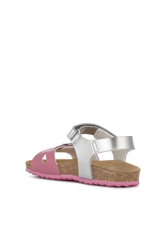 stříbrná Geox - Dětské sandály