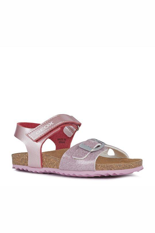 Geox - Detské sandále pastelová ružová
